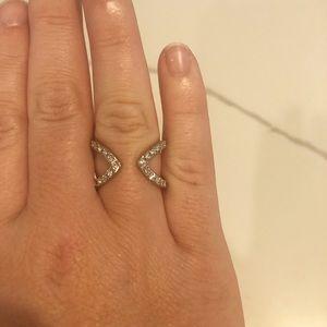 Bloomingdales silver stackable ring sz 7
